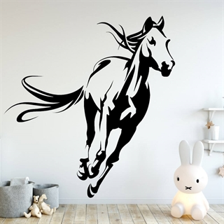 Wallsticker med en galopperende hest