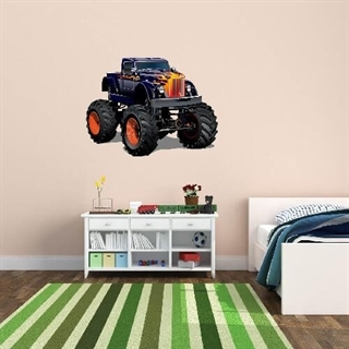 Wallsticker med en mørkeblå monstertruck