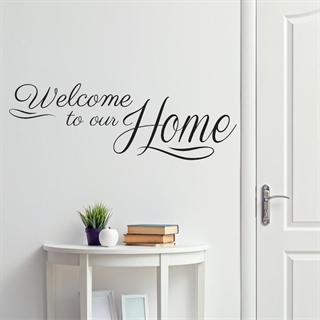 Welcome to our home  2 - Wallsticker
