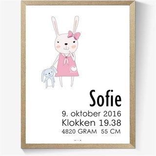 plakat med navn og fødselsdato