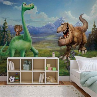 Fototapet-disney-good-dinosaur-boys-bedroom-veggmaleri-3171wm-disney-the-good-dinosaur