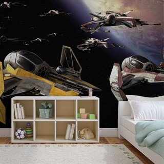 Fototapet-star-wars-anakin-jedi-starfighter-veggmaleri-1681wm-star-wars