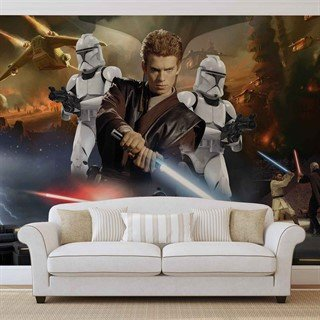 Fototapet-star-wars-attack-clones-anakin-skywalker-veggmaleri-1691wm-star-wars