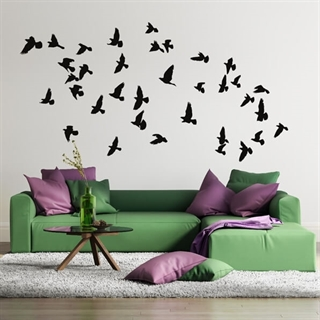 fugler Flocking - wallstickers