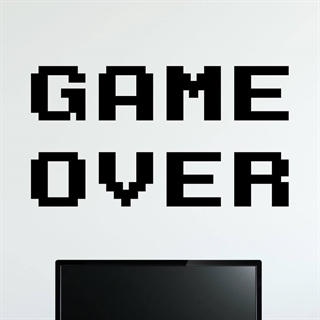 Wallsticker med stor tekst GAME OVER