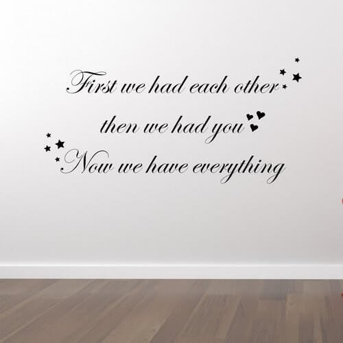 First we had each other - wallstickers