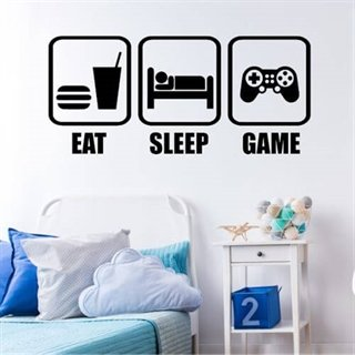 Eat, sleep, game - wallstickers