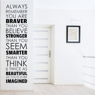 Wallstickers med engelsk tekst – Always remember you are