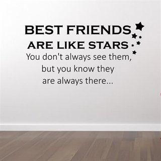 Best friends tekst – En wallsticker til veggen