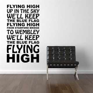 Chelsea F.C. - Flying High wallsticker med fotballsang