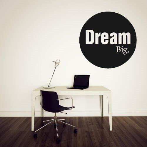 dream big - wallsticker om å drømme stort