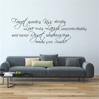 Wallsticker med teksten Made you smile!