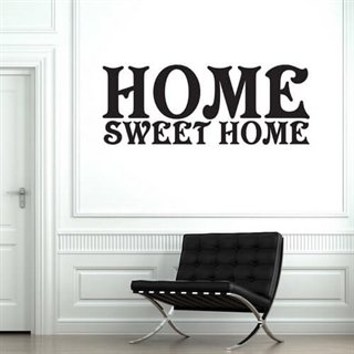 Wallsticker med teksten Home Sweet Home
