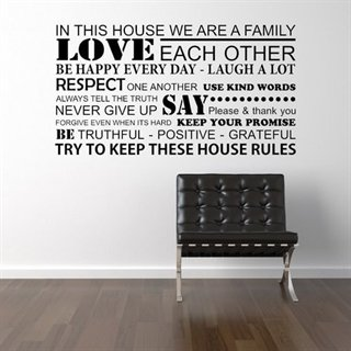 Wallsticker – We are a family