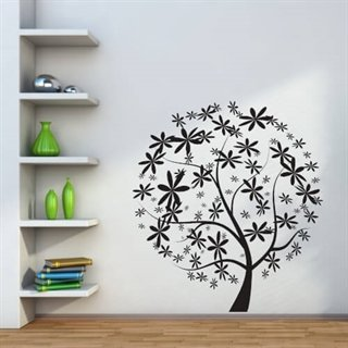 Wallstickers med blomstertre