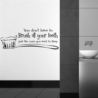 Wallsticker – Brush all your teeth