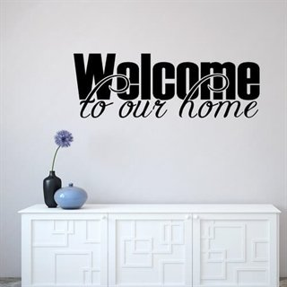 Wallstickers med tekst - Welcome  to our Home