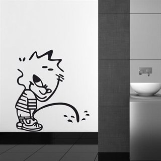 Wallstickers Toilet drengen