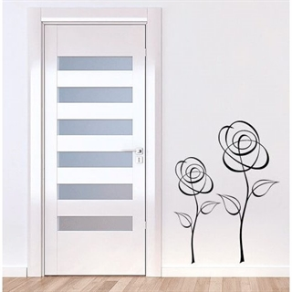 Wallsticker med to flotte roser