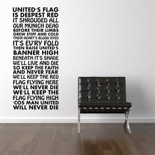 Supportersang for Man U - Superkul wallsticker