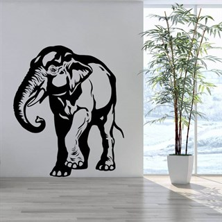Asiatisk elefant - wallsticker