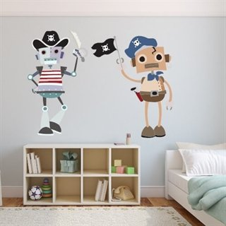Wallsticker med pirater