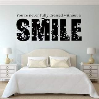 Wallsticker med tekst - Without a smile