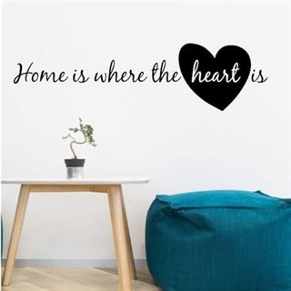 Wallsticker - Home med hjerte - wallstickers