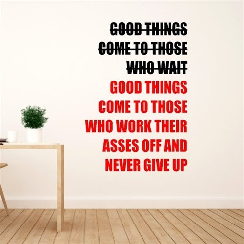 Wallsticker - Good things come - wallstickers