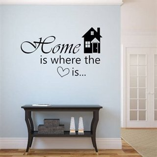 Wallsticker – Home is where...