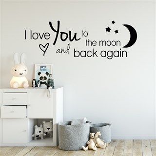 Wallstickers tekst: I love you - pink