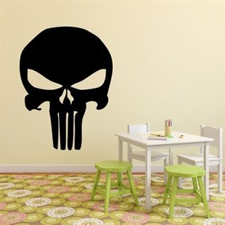 "Wallsticker med et ansikt av en ""punisher"""