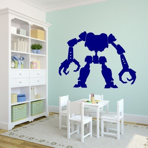 hodeløs robot - kjøp wallsticker her
