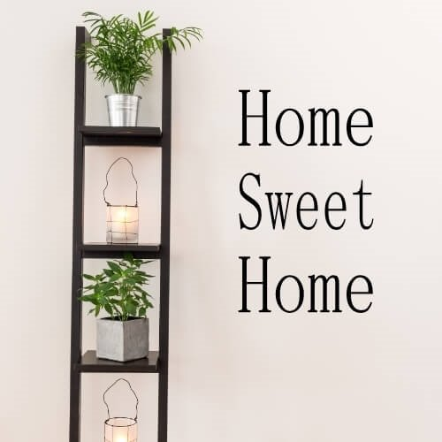 Wallsticker med tekst: Home sweet home