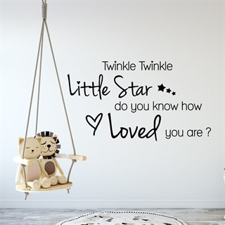 Wallsticker med teksten Twinkle twinkle little Star
