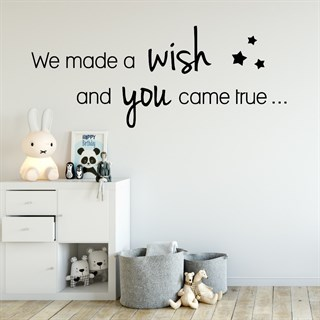 Wallstickers - We made a wish